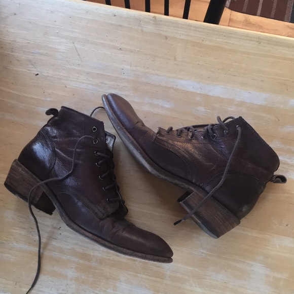 7c4d7928f7f5f Frye Shoes | Carson Lace Up Brown Boots | Poshmark